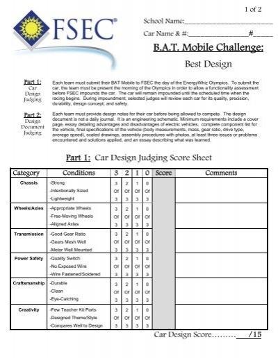 Essay contest judging sheet