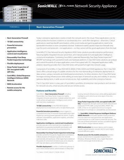 SonicWALL NSA E5500 01-SSC-7008 Network Security Appliance FIrewall /> TRANSFER