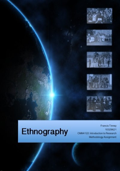 ethnography assignment