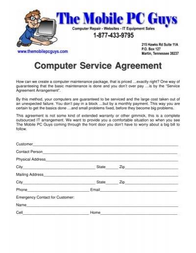 computer maintenance agreement