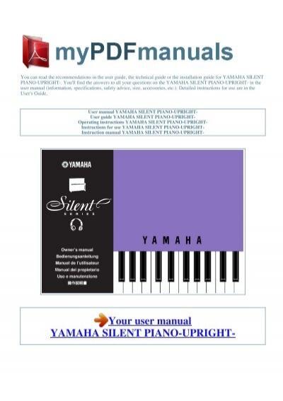 user manual yamaha silent piano upright 1 rh yumpu com Silent Yamaha C3 Grand Pianos yamaha silent piano user manual