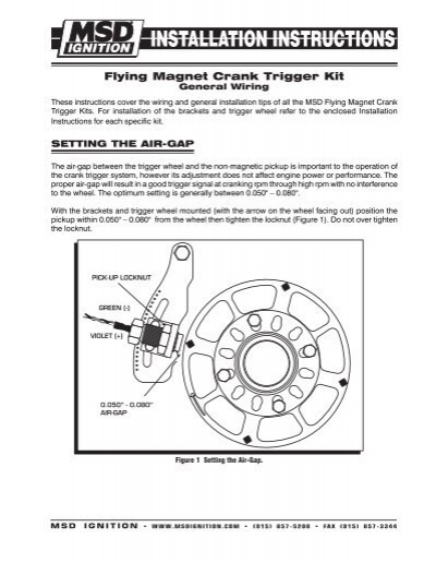 setting the air gap msd ignition