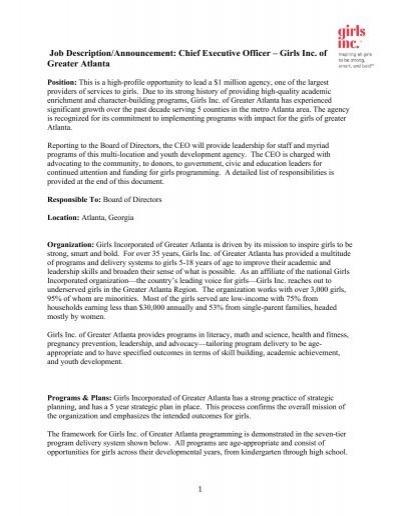 Job description announcement chief executive officer - Job description for chief executive officer ...
