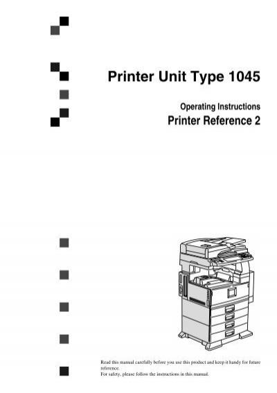 Printer Unit Type 1045 Gestetner Usa
