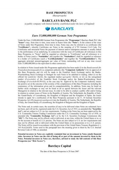 barclays investment bank differentiation formula