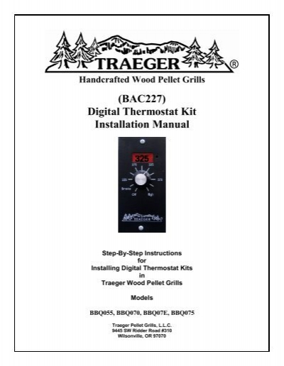traeger thermostat schematic (bac227) digital thermostat kit installation manual ... thermostat control wiring schematic