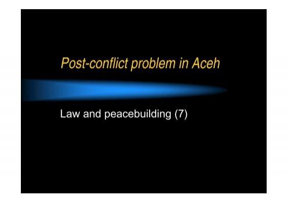 impact of conflict essay