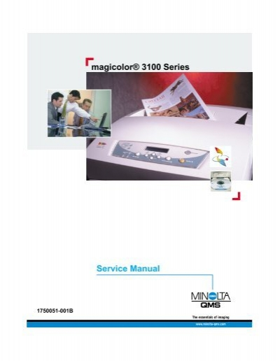 magicolor 3100 series service manual printer registration rh yumpu com Funny Printer Manual Canon Printer Manuals