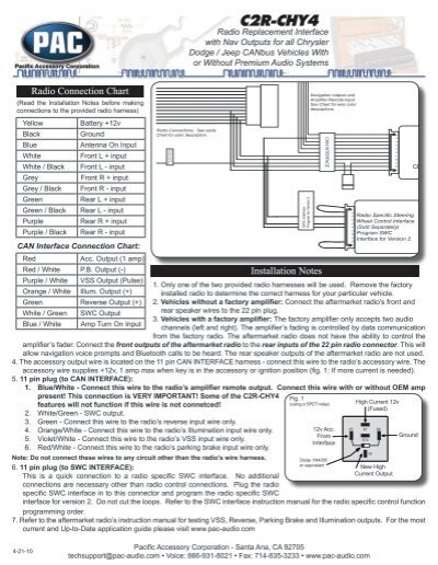 Please click here for the C2R-CHY4 Instruction Manual - PAC Audio on chrysler 300 wiring diagram, vehicle wiring diagrams 2000 cadillac seville radio diagram, pac graph or diagram, 2003 jeep trans diagram,