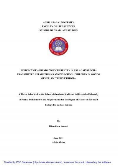 Addis Ababa University Masters Thesis Pdf
