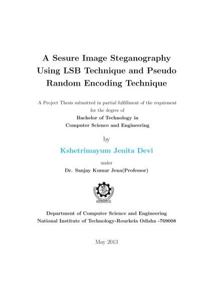Phd thesis steganography