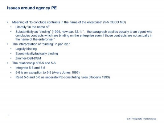 agency pe oecd E-commerce & the oecd definition of permanent establishment - server pe e-commerce, pe, permanent, establishment, oecd.