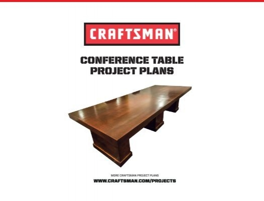 Conference Table Project Plans - Conference table plans