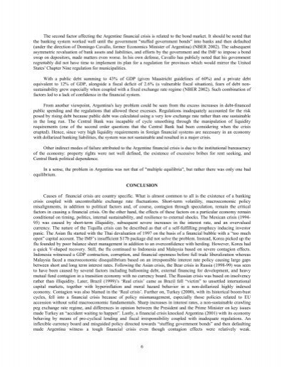 crisis in argentina essay Economy, currency crisis - an overview of the argentine financial crisis.