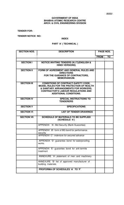 A&CED Tender Documents - BARC