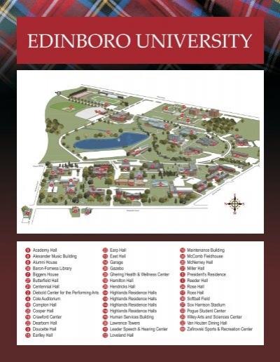 Edinboro University Map Map of Campus.cdr   Edinboro University Edinboro University Map