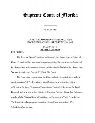 Sc11 2517 Revised Opinion Florida Supreme Court