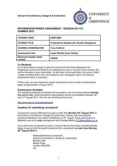 nottingham university resit coursework Nottingham trent university online workspace (now) vle for ntu online courses.