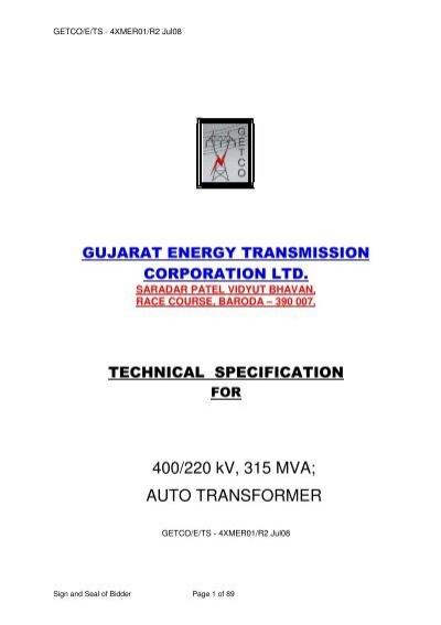 400/220 kV, 315 MVA