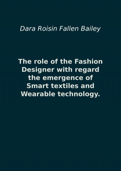 The Role Of The Fashion Designer With Regard The Emergence Of