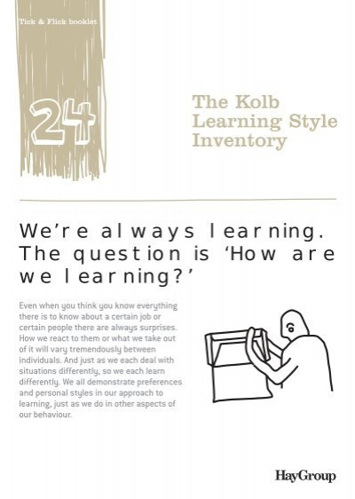 Kolb learning style inventory accommodating iol