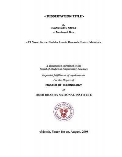 hbni m tech thesis