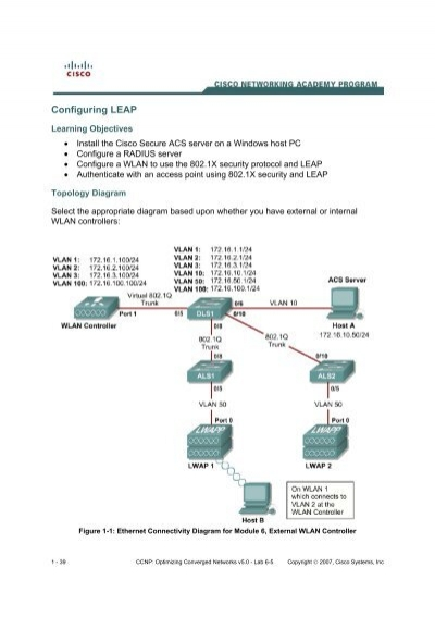 ccnp optimizing converged networks v5 0 instructor lab manual rh yumpu com CCNA Lab Kit CCNP Lab