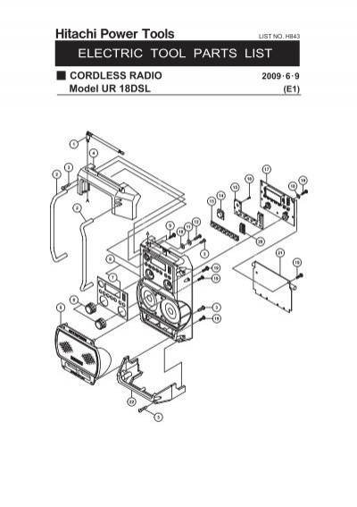 Ur18dsl Exploded Diagram And Parts Listing
