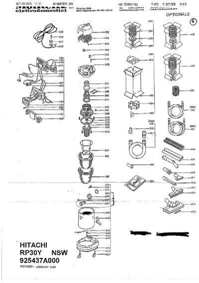 wiring schematics power tools power tool schematics rp30y exploded diagram and parts listing - hitachi power ...