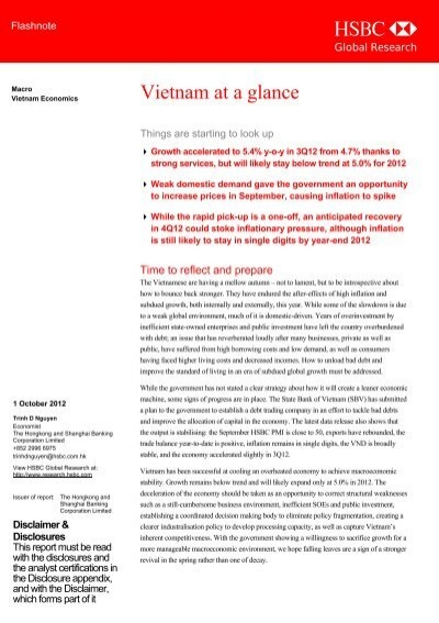 Vietnam at a glance-Things are starting to look up - HSBC