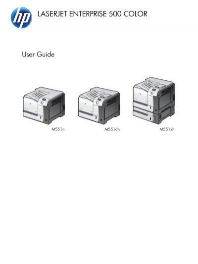 HP LaserJet Enterprise 500 Color M551 User Guide - ENWW