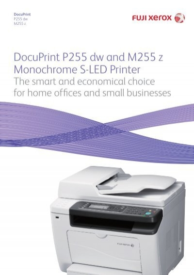 Fuji Xerox Docuprint 255 Series Brochure