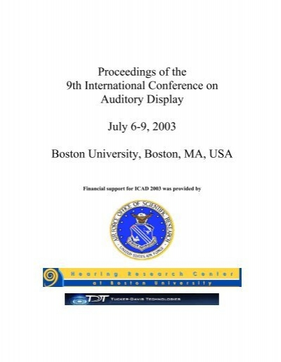 Proceedings of the 9th International Conference on Auditory ...