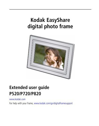 Kodak EasyShare digital photo frame - Kodak - Eastman Kodak