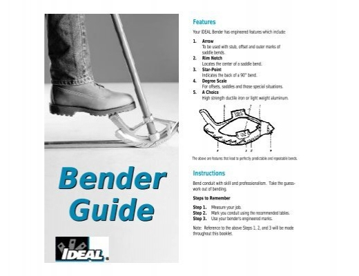 ideal bender guide rh yumpu com Ideal Conduit Theard Lube After Conduit Ideal Cystectomyh