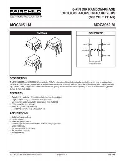 7500VAC 50 pieces FAIRCHILD SEMICONDUCTOR MOC3031M OPTOISOLATOR TRIAC