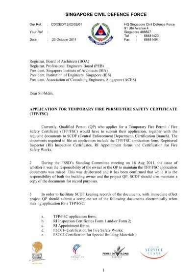 Application for Temporary Fire PermitFire Safety Certificate – Fire Service Application Form
