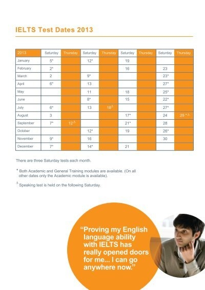how to take ielts exam date