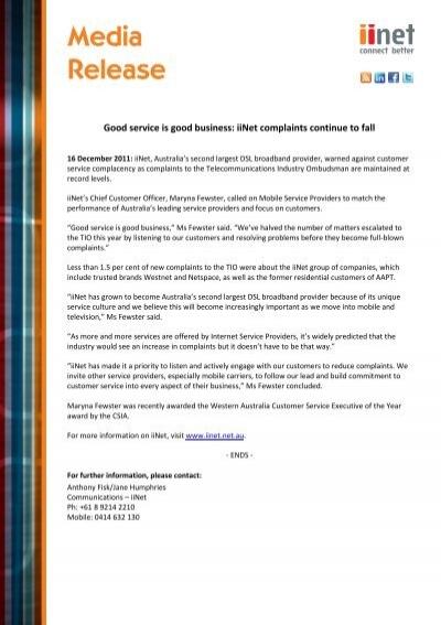 complaint against broadband service provider