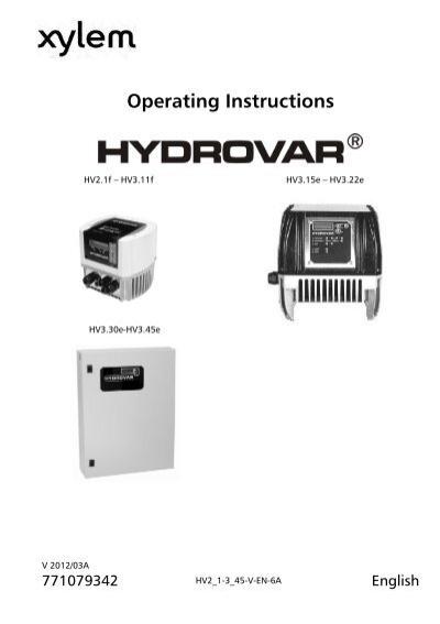 Hydrovar manual