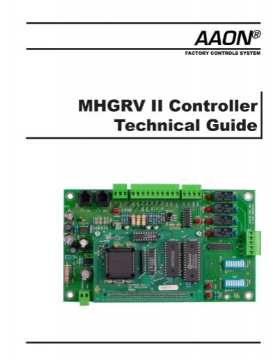 MHGRV II Controller Technical Guide - Orion Control Systems