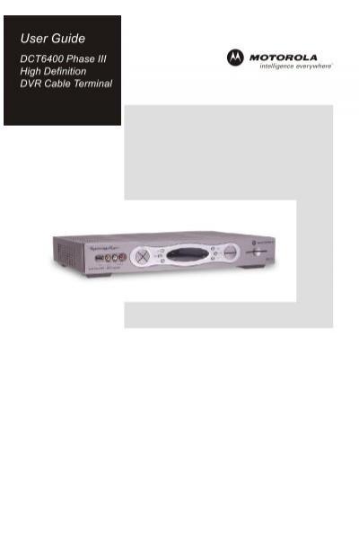 motorola dct 6400 phase iii armstrong rh yumpu com Motorola DCH6416 Front Motorola DCH6416 External Hard Drive