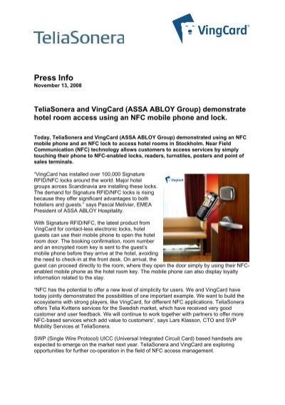 Press Info - VingCard Elsafe