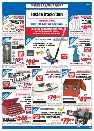Inside track coupons harbor freight