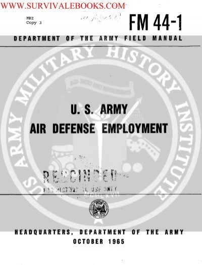 US Army and wwwsurvivalebookscom