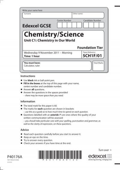 c1 chemistry in our world paper refference 5ch1f 01 Essay on the chemistry of singual atomized materials science unit c1: chemistry in our world foundation tier paper reference 5ch1f/01 total marks.