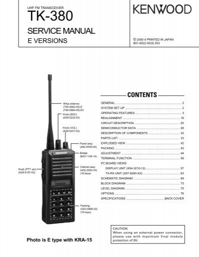 tk 380 e series the repeater builder s technical information page rh yumpu com Kenwood Tk 290 kenwood tk-280 user manual