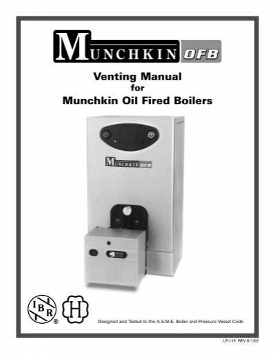 Venting Manual Munchkin Oil Fired Boilers - Heat Transfer Products ...