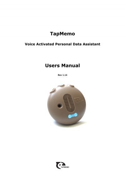 Tapmemo users manual maxi aids for Voice assistant italiano