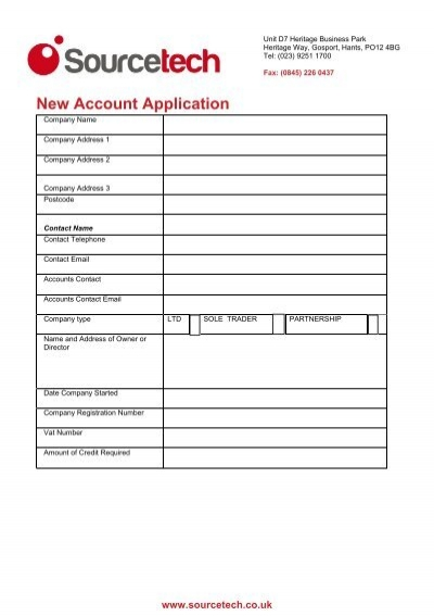 Credit application form motion technologies credit application form sourcetech altavistaventures Image collections
